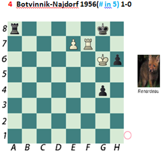 Puzzle 4  Botvinnik-Najdorf (# in 5) Chess Beauty puzzles