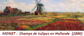 MONET : Champs de tulipes en Hollande (1886)