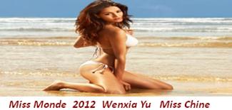 Miss Monde Wenxia Yu (Miss Chine)