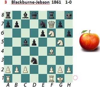 Puzzle 3   Blackburne-Jebson  1861    1-0
