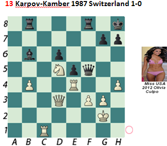 Puzzle 13  Karpov-Kamber Chess Beauty puzzles