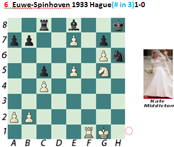 Puzzle 6  Euwe-Spinhoven (# in 3) Chess Beauty puzzles