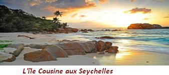 L'ile Cousine aux Seychelles (océan Indien)