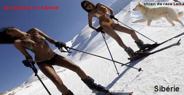 Snowboard en Sibérie