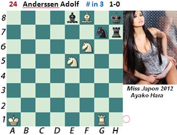 puzzle 24  Anderssen (study)  # in 3  1-0