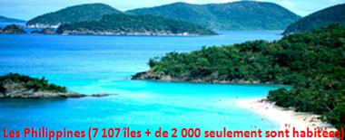 Les Philippines  (7107 îles)