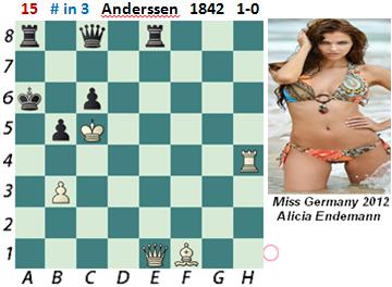 puzzle 15  Anderssen 1842 (study)  # in 3