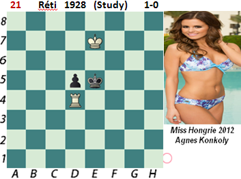 puzzle 21  Réti  1928 (study)   1-0