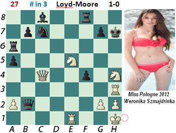 puzzle 27  Loyd-Moore   # in 3   1-0