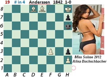 puzzle 19  Anderssen 1842 (study)   # in 4