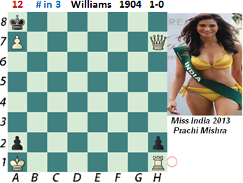 puzzle 12  Williams (study) 1904   # in 3   1-0