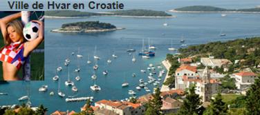 Ville de Hvar en Croatie